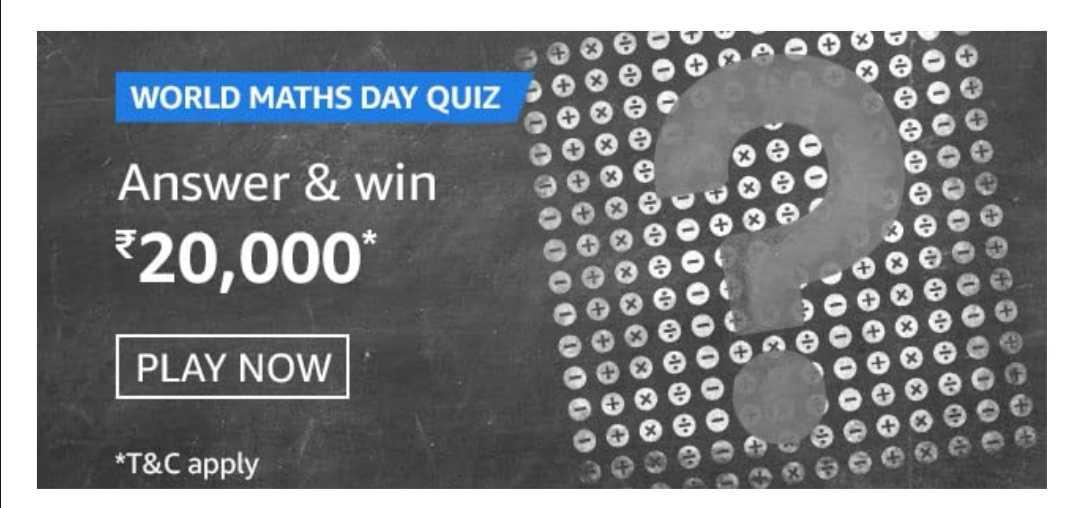 Amazon World Maths Day Quiz