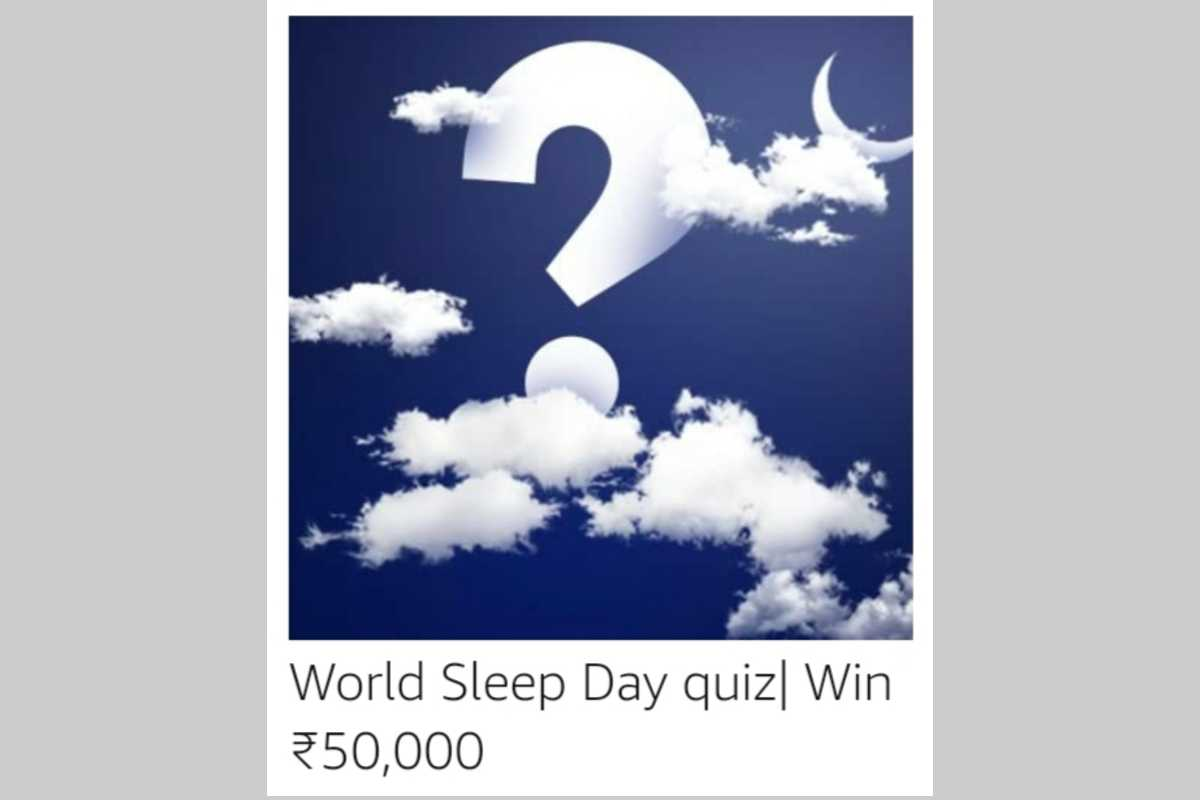 Amazon World Sleep Day Quiz
