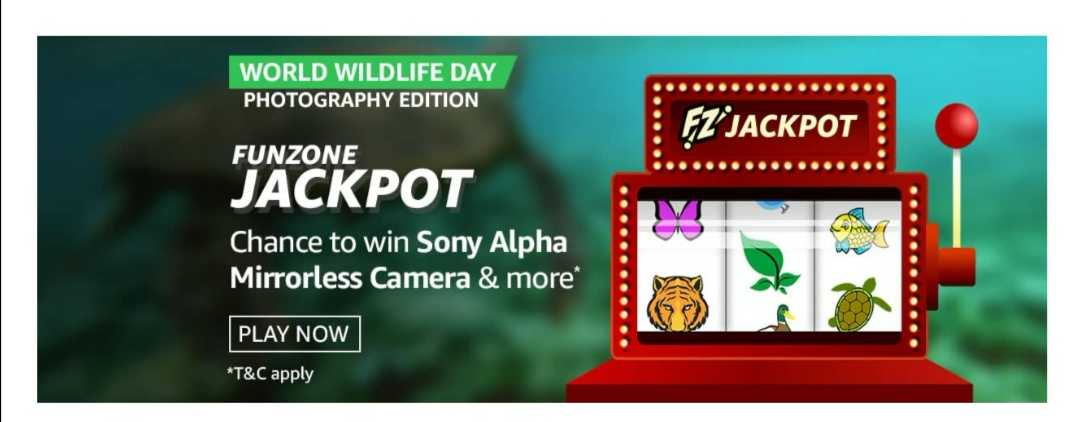 Amazon World Wildlife Day Photography Edition Funzone Jackpot Quiz