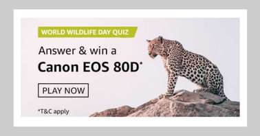 Amazon World Wildlife Day Quiz