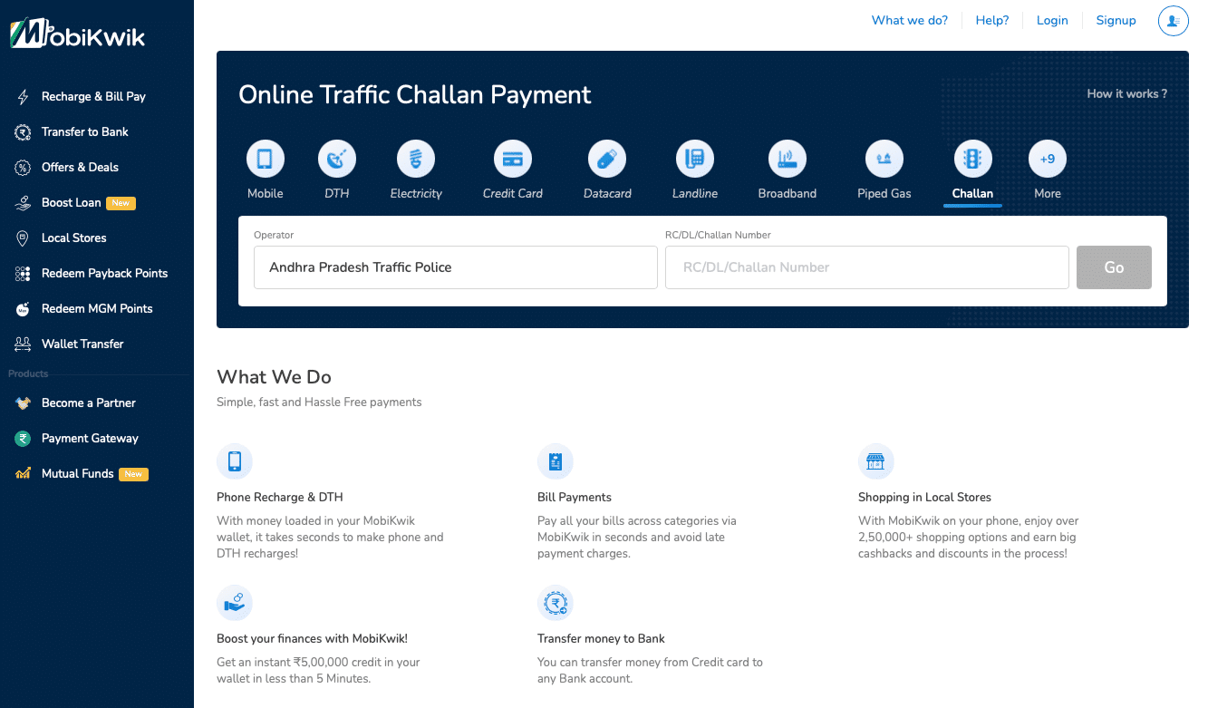 Flipkart-owned MobiKwik lets users pay traffic challan online