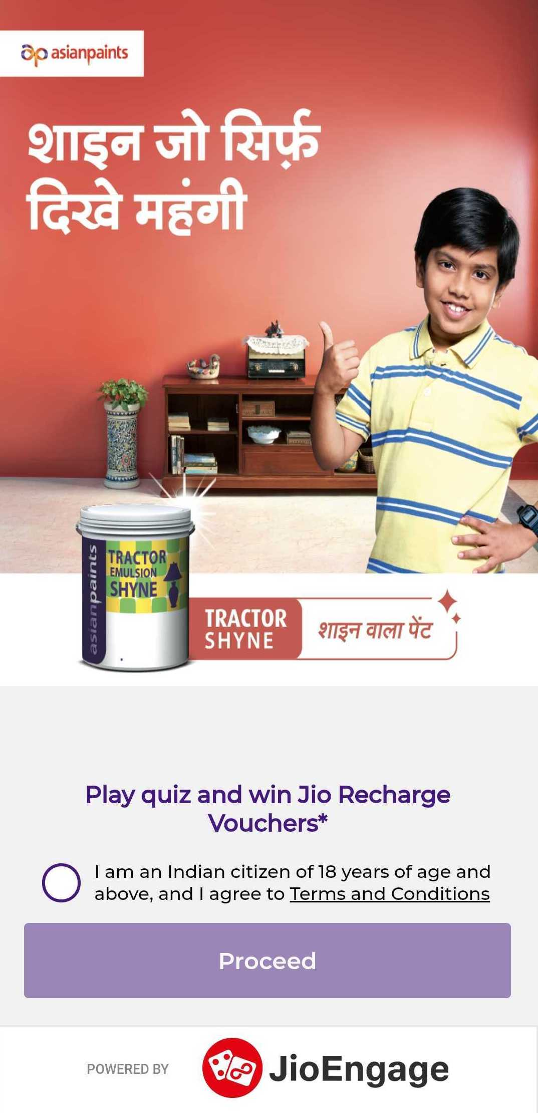 Jio Asian Paints campaign is offering Jio recharge vouchers worth Rs 199