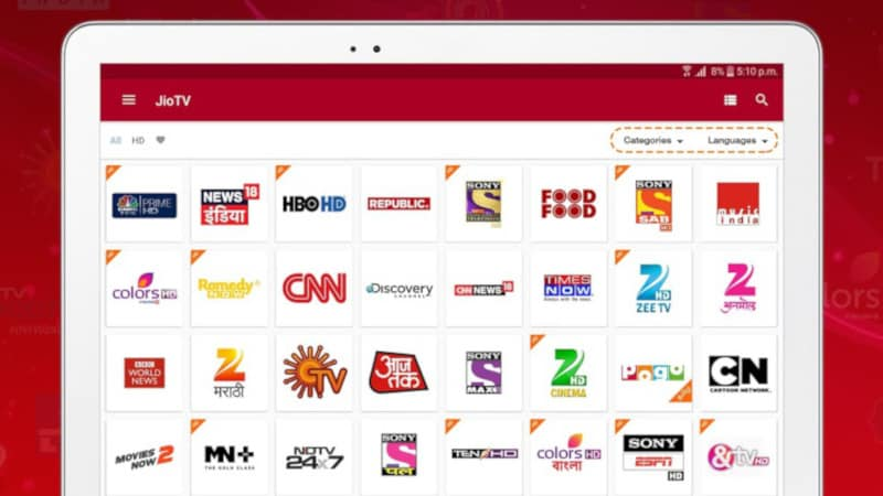 JioTV app lets users watch over 600 channels in 15+ languages