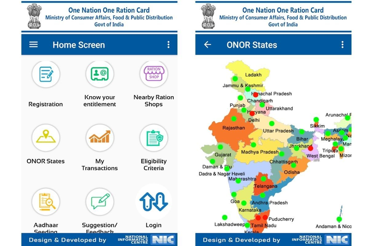 Mera Ration app lets users conveniently use one Ration Card across India