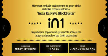 Micromax In 1 launch date