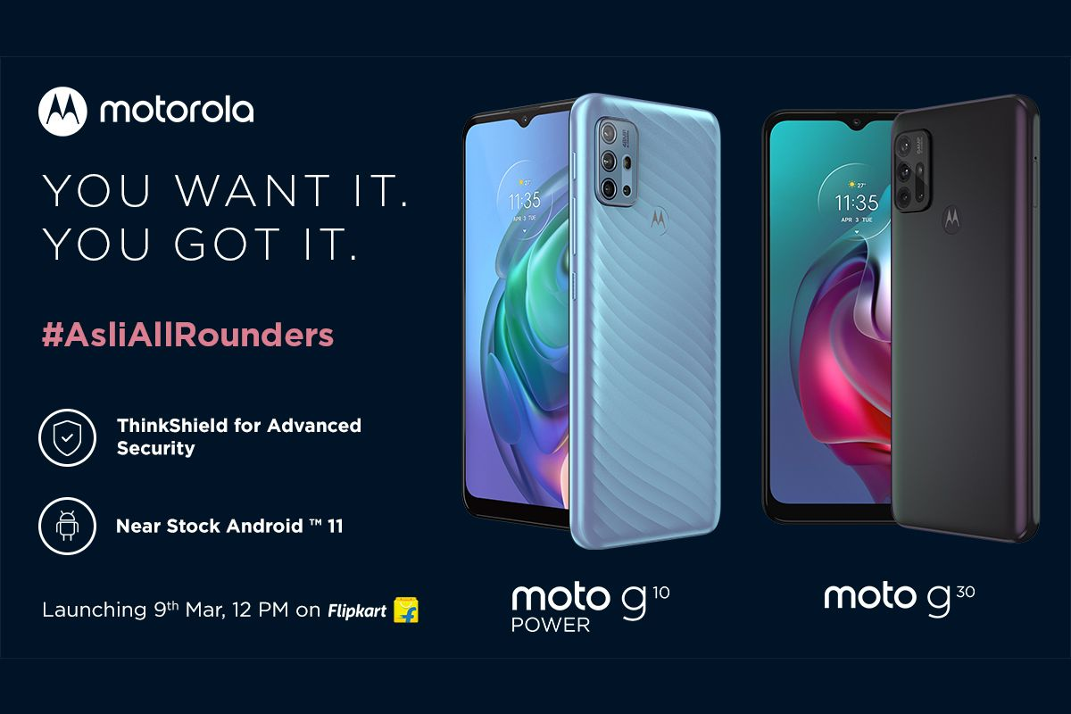 Moto G10 and Moto G30 March 9 launch date in India
