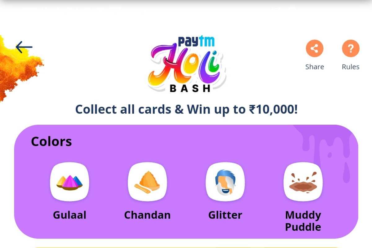 Paytm Holi Bash contest