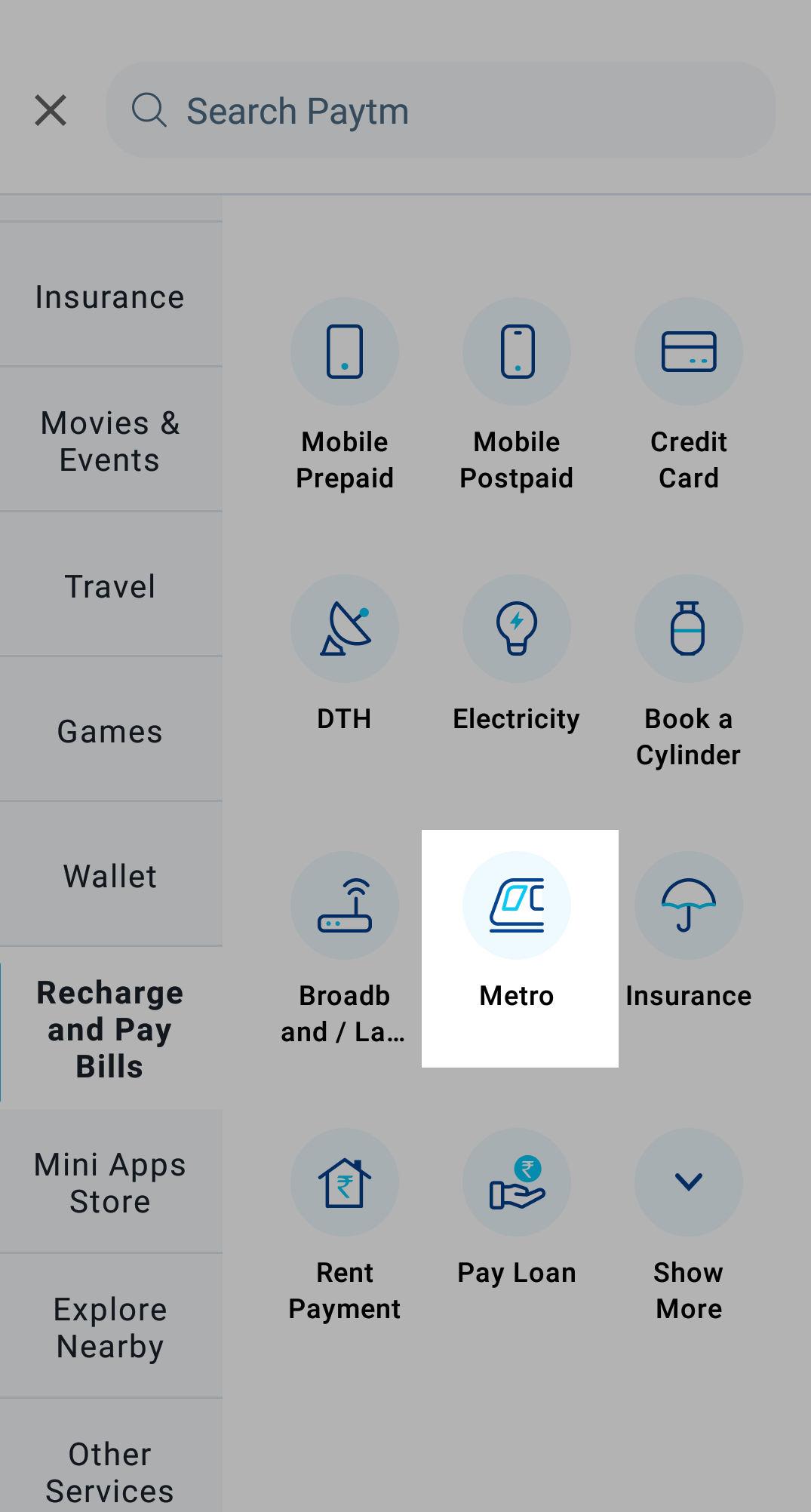 Metro Passengers of Delhi, Mumbai, Hyderabad, and Bangalore can easily recharge their metro card on Paytm
