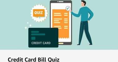 Amazon Credit Card Bill Quiz