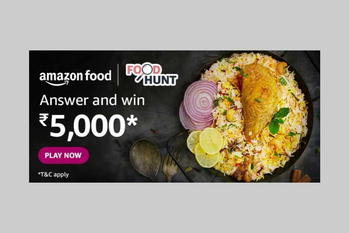 Amazon Food Hunt Quiz