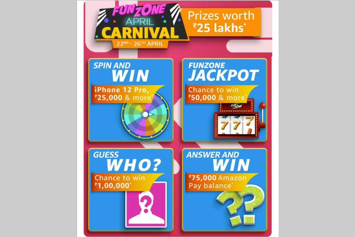 Amazon Funzone April Carnival Quiz