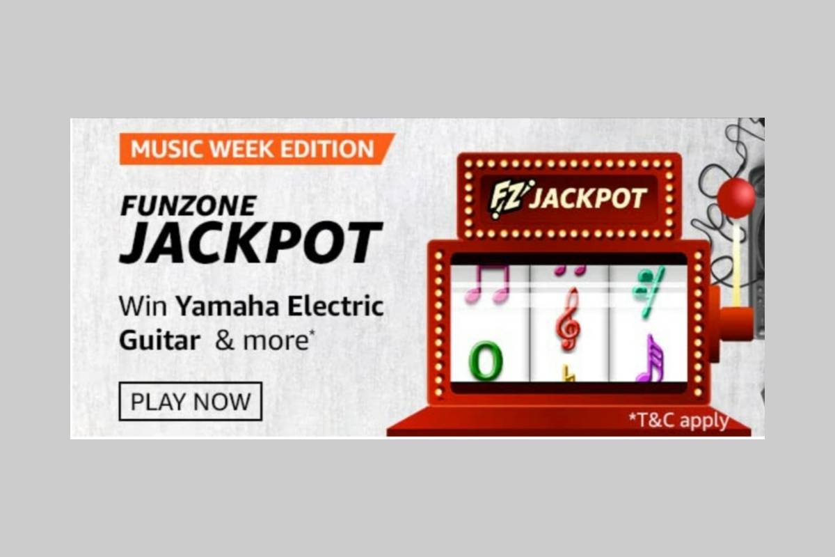 Amazon Music Week Edition Funzone Jackpot Quiz