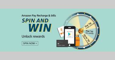 Amazon Pay Recharge & bills Spin and Win Quiz