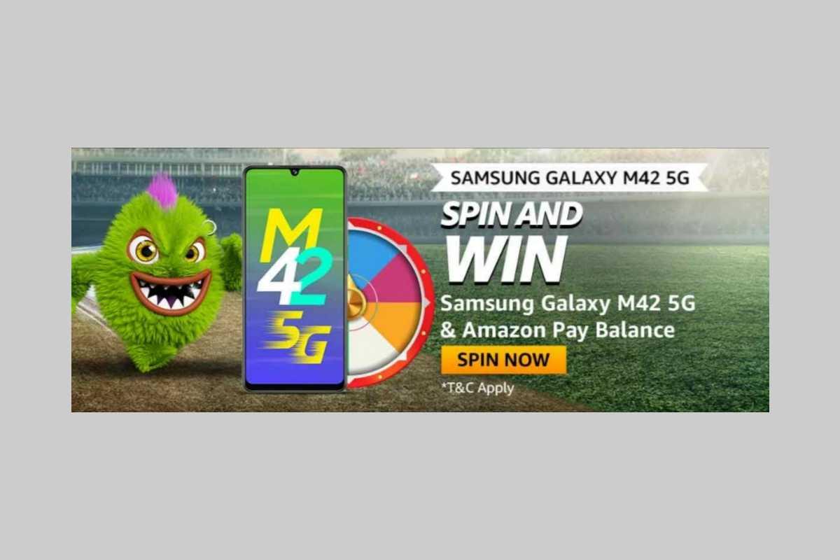 Amazon Samsung Galaxy M42 5G Spin and Win Quiz