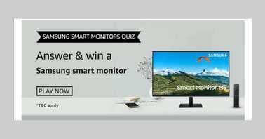 Amazon Samsung Smart Monitors Quiz