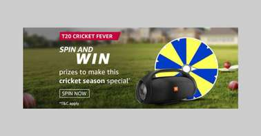 Amazon T20 Cricket Fever Spin and Win Quiz