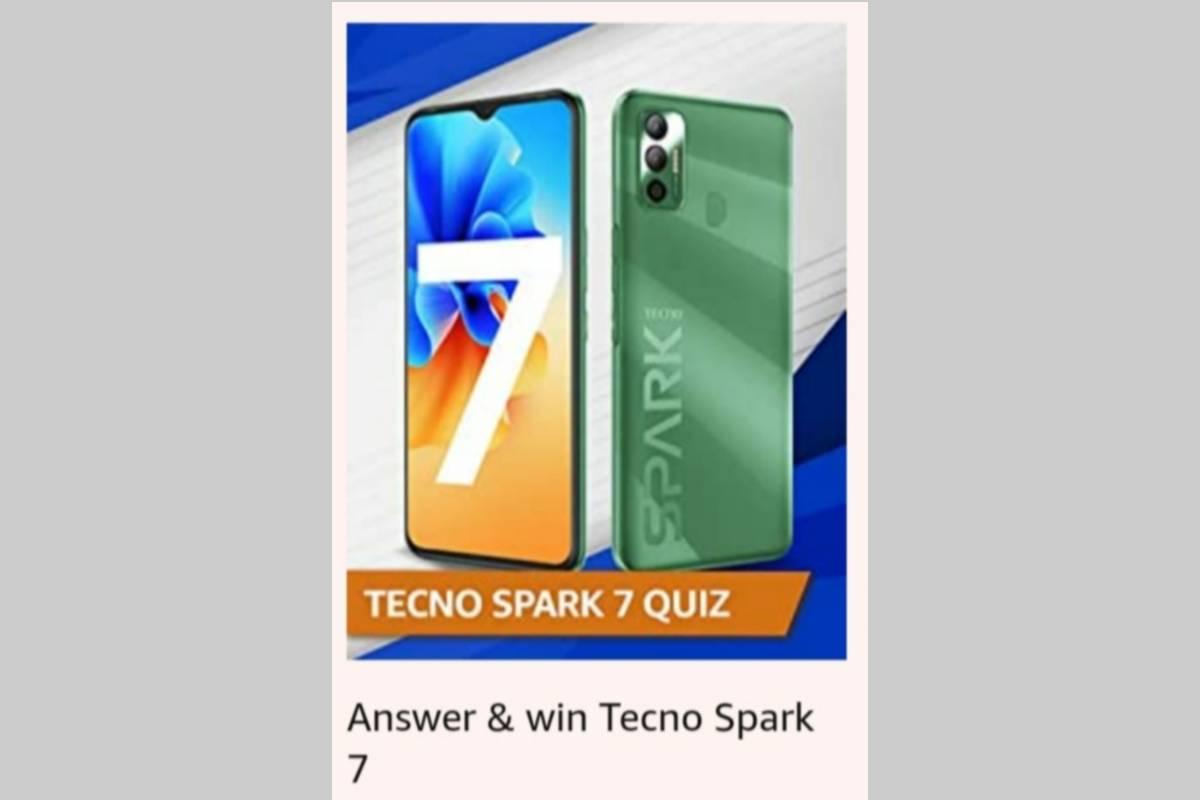 Amazon Tecno Spark 7 Quiz