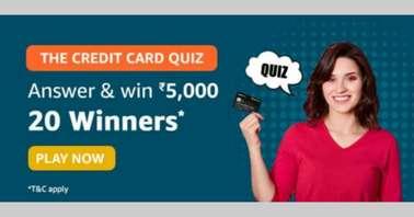 Amazon The Credit Card Quiz