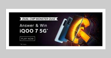 Amazon iQOO 7 Dual Chip Monster Quiz