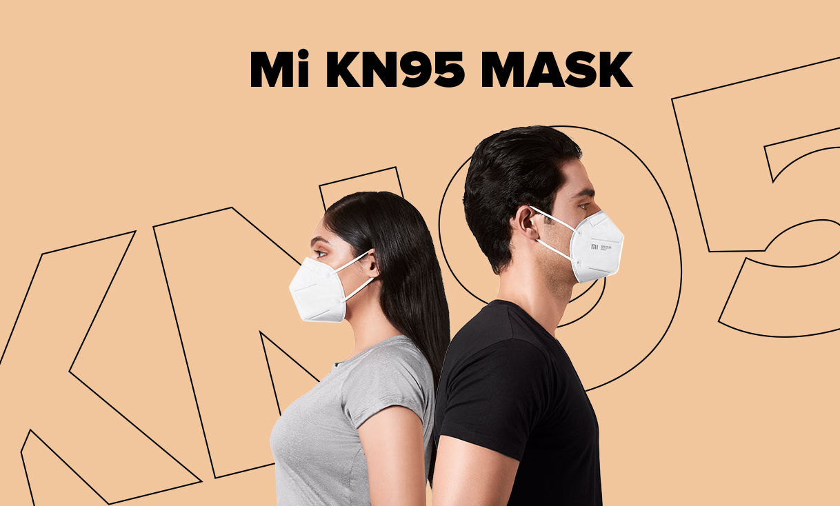 The Mi KN-95 masks come with 4-layer protection and have a cup shape for better breathability