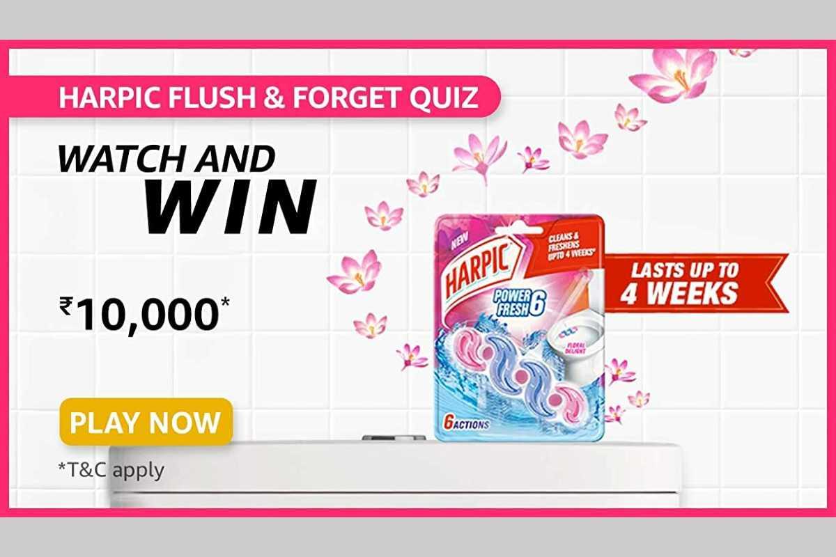 Amazon Harpic Flush & Forget (Blocks) Quiz