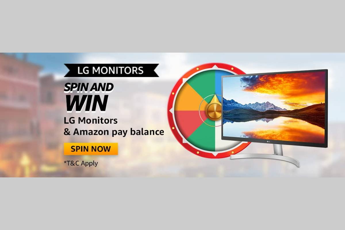 Amazon LG Monitors Spin and Win Quiz