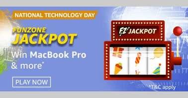 Amazon National Technology Day Funzone Jackpot Quiz