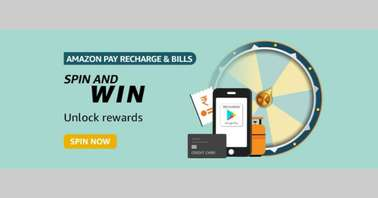 Amazon Pay Recharge and bills Spin and Win Quiz