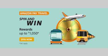 Amazon Pay Travel Spin and Win Quiz