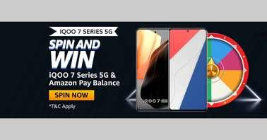 Amazon iQOO 7 Series 5G Spin and Win Quiz