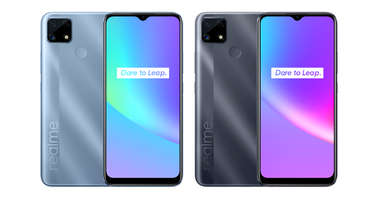 Realme C25s Water Blue and Water Grey-