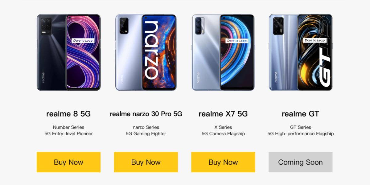 Realme GT 5G coming soon