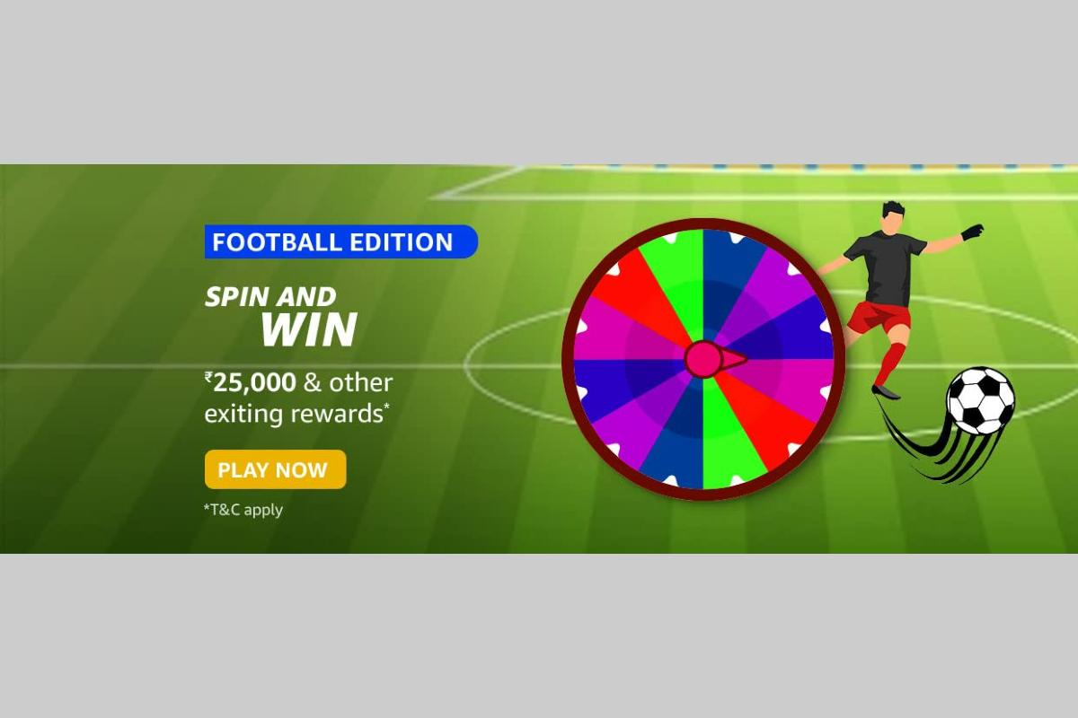 Amazon Football Edition Spin and Win Quiz