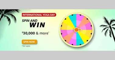 Amazon International Yoga Day Spin and Win Quiz