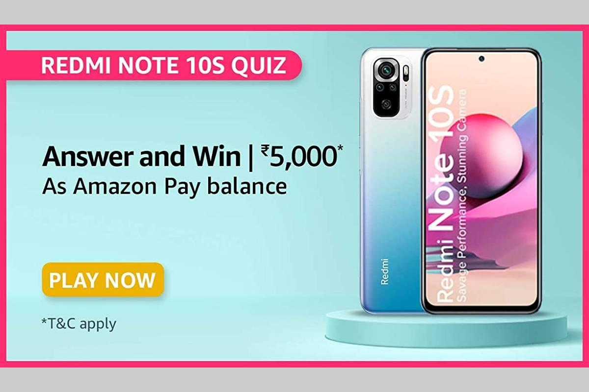 Amazon Redmi Note 10S Quiz