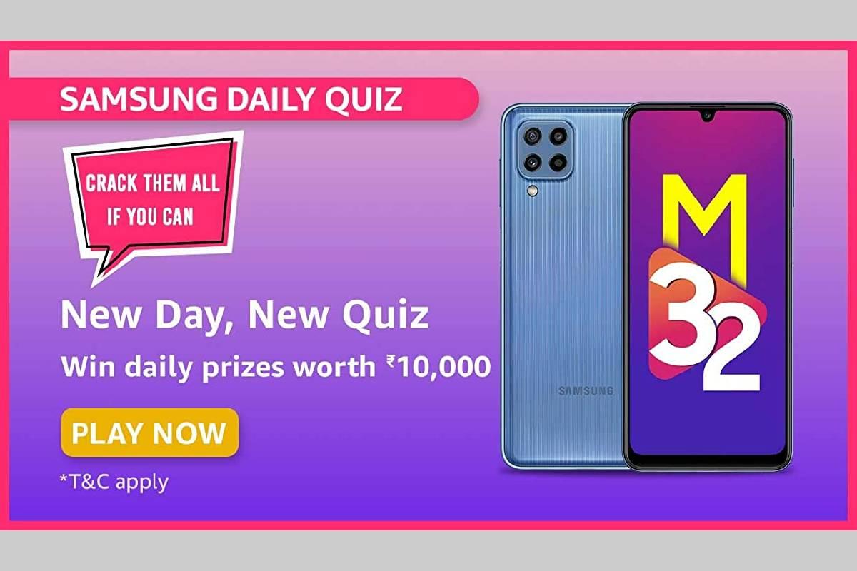 Amazon Samsung Galaxy M32 Daily Quiz