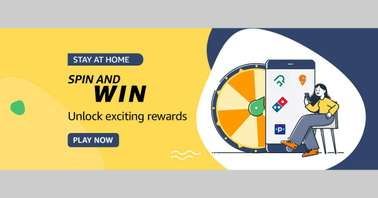 Amazon Stay at home Spin and Win Quiz