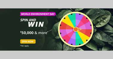 Amazon World Environment Day Spin and Win Quiz