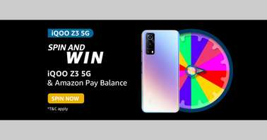 Amazon iQOO Z3 5G Spin and Win Quiz