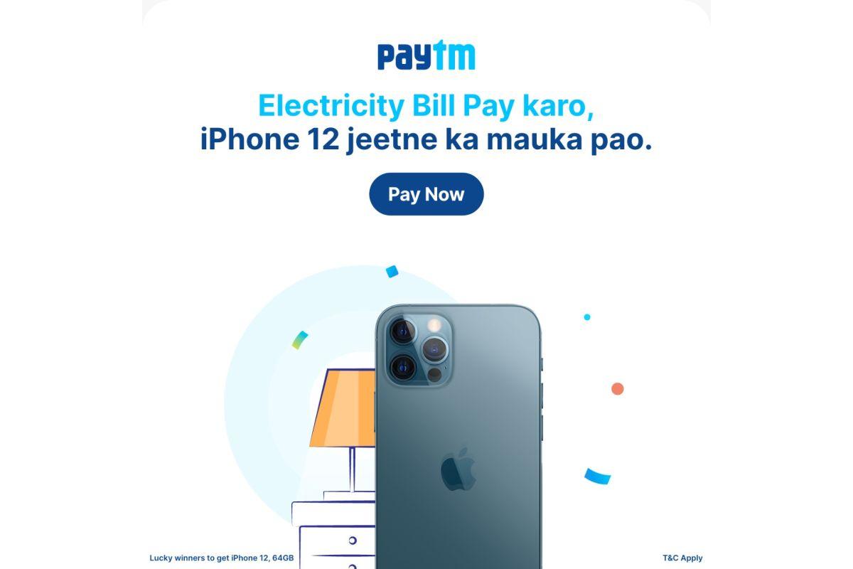 Paytm iPhone 12 Bonanza offer