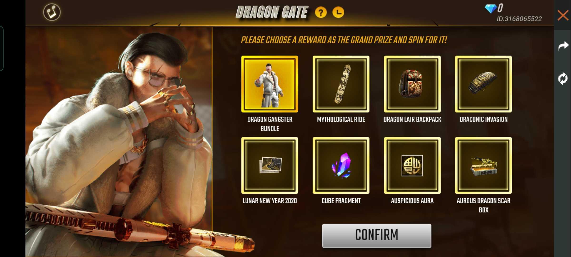 Free Fire Dragon Gate event