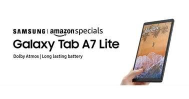 Galaxy Tab A7 Lite Amazon INdia listing