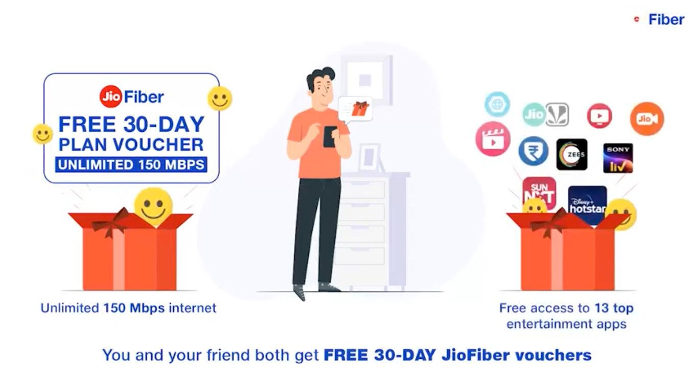 Jio Fiber Customer Referral Program offers up to 12 months free Jio Fiber subscription