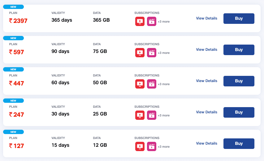 Jio Freedom Plans launched with up to 365GB data and 365 days validity