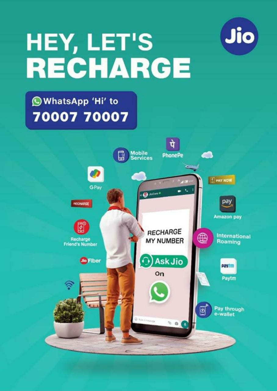 Jio users can now recharge and pay bills using WhatsApp