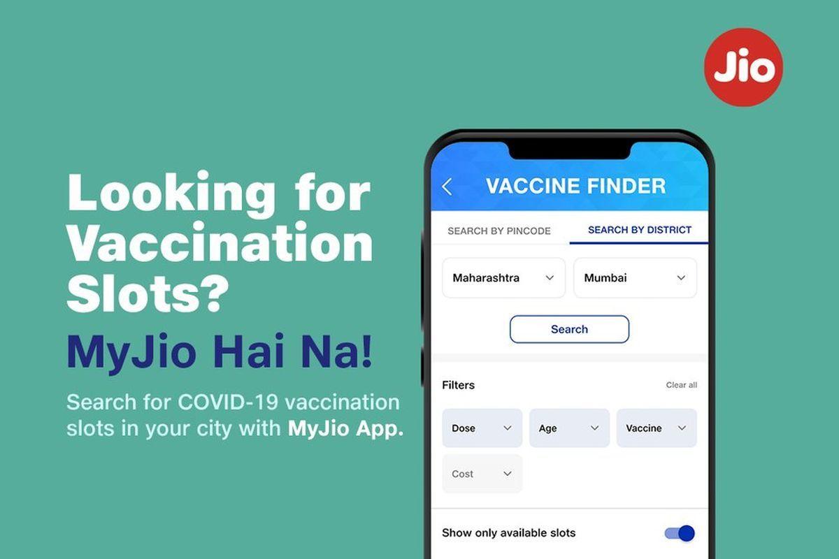 MyJio Vaccine finder