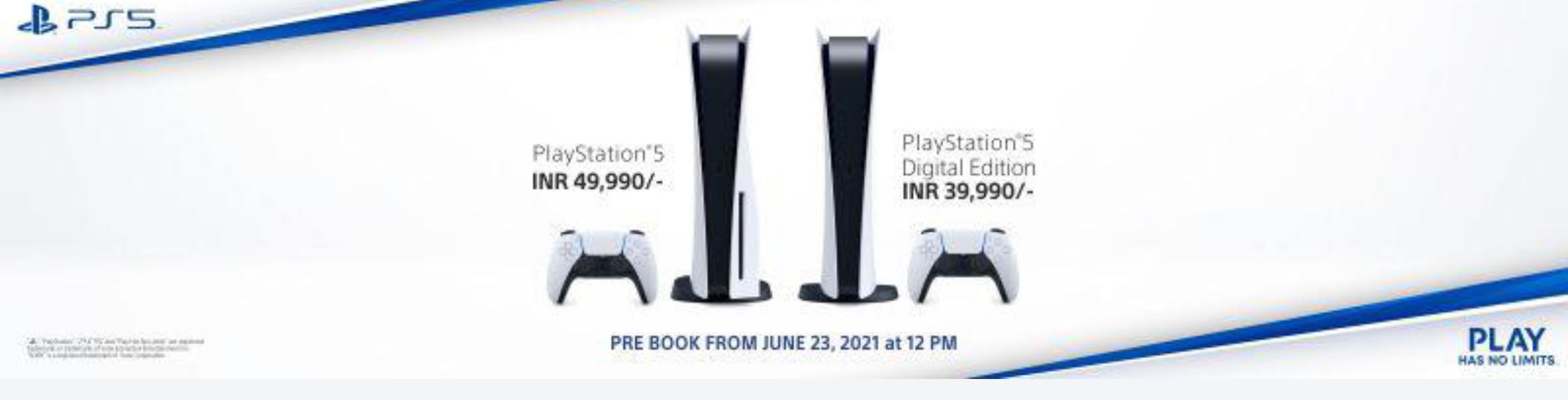 PS5 pre-booking in India starts June 23rd at 12pm