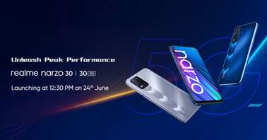 Realme Narzo 30 series launch date