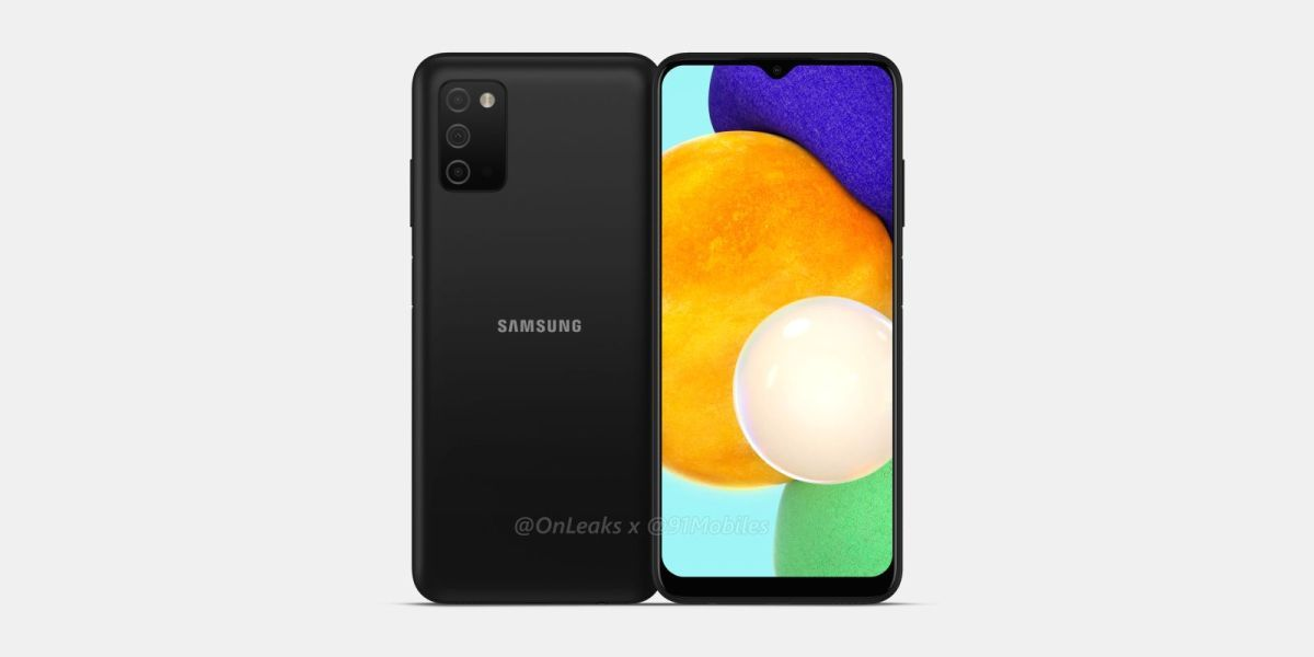 Samsung Galaxy A03s CAD renders-