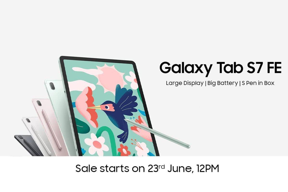 Samsung Galaxy Tab S7 FE Amazon Listing